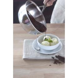 Demeyere atlantis conische sauspan ø18cm 1.5l met gietrand