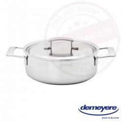 Industry lage kookpot met deksel 24 cm