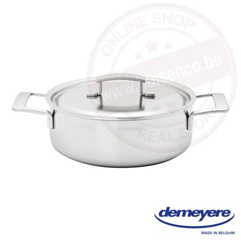 Demeyere industry lage kookpot met deksel 24 cm
