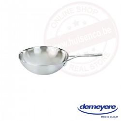 Demeyere industry wok 30 cm - vlakke bodem
