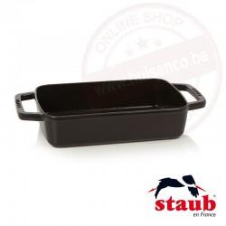 Staub ovenschotel klein rechthoekig 30x20cm 3.15l - zwart