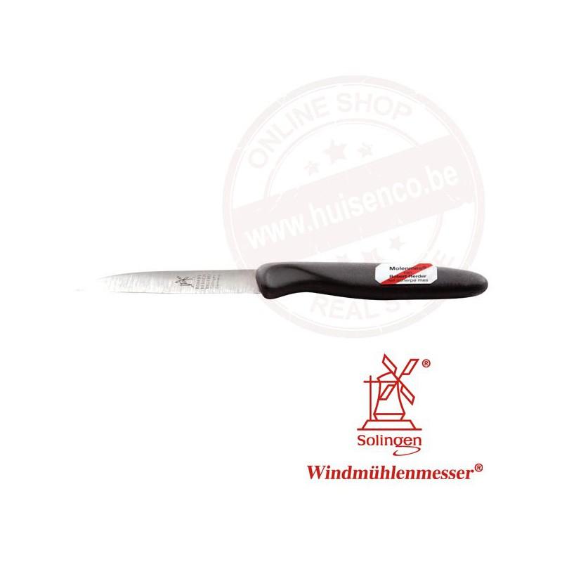 Molenmes 85mm (5357) pvc handvat (ass.kleur) - roestvrijstaal