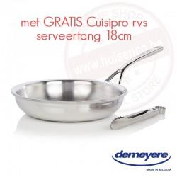 Bakpan proline 24cm - met dichtgelegde rand - met gratis Cuisipro RVS tang 18cm