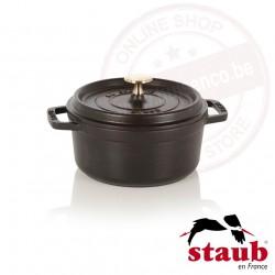 Staub ronde cocotte ø18cm 1.70l - zwart