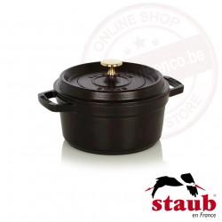 Staub ronde cocotte ø20cm 2.20l - zwart