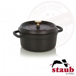 Staub ronde cocotte ø22cm 2.60l - zwart