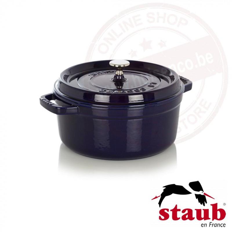 Staub ronde cocotte ø24cm 3.80l - donkerblauw