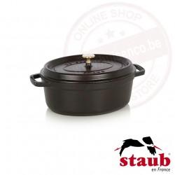 Staub ovale cocotte ø29cm 4.20l - zwart
