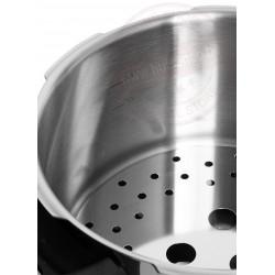 Snelkookpan brinox 22cm 4l - met supergeleidende sandwichbodem